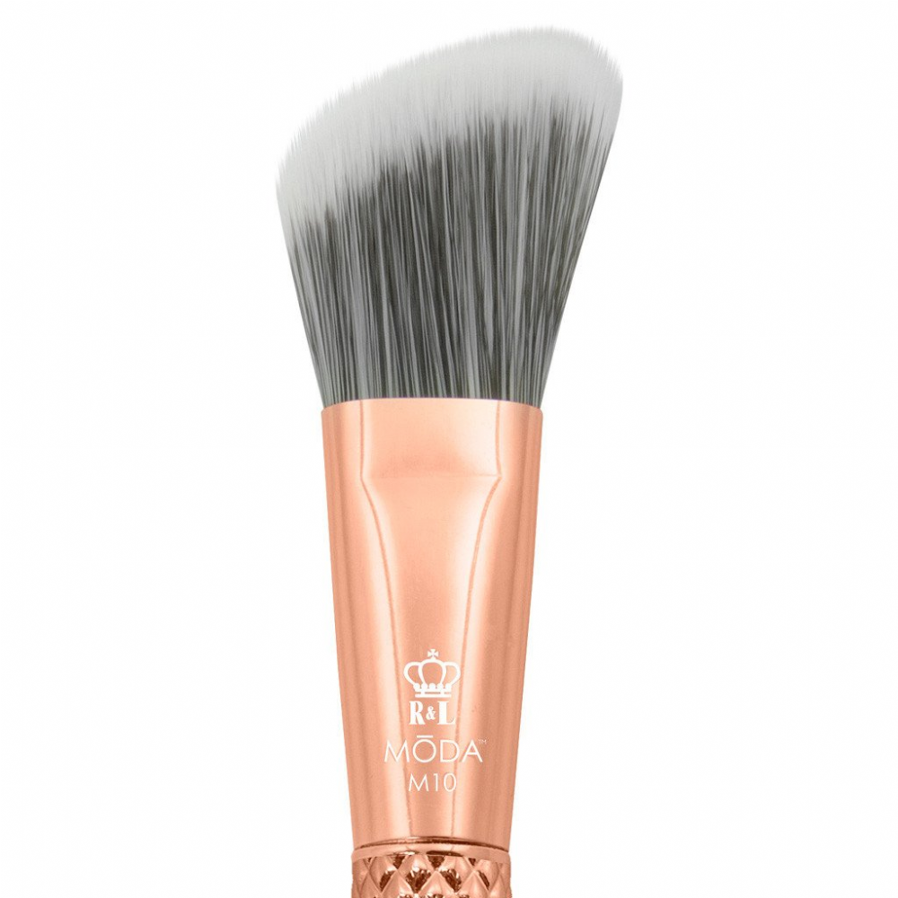 Royal Langnickel Moda Metallic Angle Foundation Brush Rose Gold